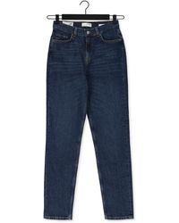 SELECTED Donkerblauwe Slim Fit Jeans Slfamy Hw Slim Row Blu Jeans U