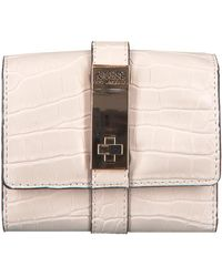 Guess Graue Portemonnaie Asher Slg Small Trifold - Pink