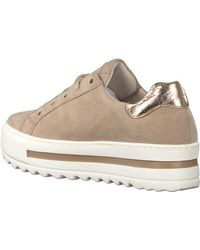 Gabor Beige Lage Sneakers 495 - Naturel