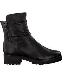 Gabor Zwarte Biker Boots 92.092.27