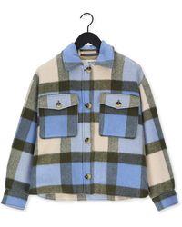 SELECTED Multi Jack Slfremi Check Shirt Jacket B - Blauw