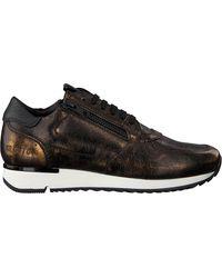 RED-RAG Bronzen Lage Sneakers 76816 - Zwart