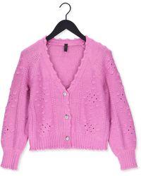 Y.A.S Roze Vest Yasbarbara Ls Knit Cardigan