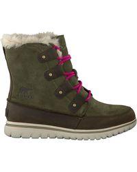 Sorel Grüne Ankle Boots Cozy Joan