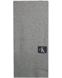 Calvin Klein Graue Schal J Basic Men Knitted Scarf