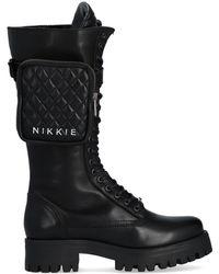 NIKKIE Zwarte Veterboots Brandy Combat Boots