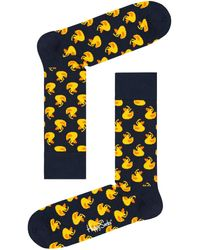 Happy Socks Weiße Socken Rubber Duck Sock - Schwarz