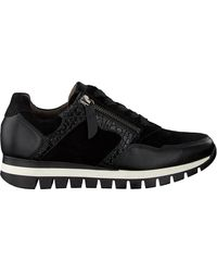 Gabor Zwarte Lage Sneakers 438