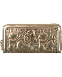 Guess Gouden Portemonnee New Wave Slg Large Zip Around - Metallic