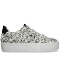 Floris Van Bommel Schwarze Sneaker Low 85333 - Weiß