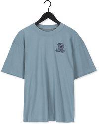 Edwin Groene T-shirt Office Tako Ts - Blauw