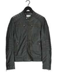 Goosecraft Groene Leren Jas Jacket 965 - Meerkleurig