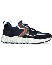 Voile Blanche Blauwe Lage Sneakers Club01