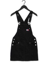 Tommy Hilfiger Zwarte Mini Jurk Tjw Cord Bungaree Dress - Meerkleurig