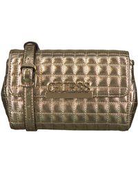 Guess Gouden Schoudertas Matrix Cnvrtble Xbody Belt Bag - Metallic