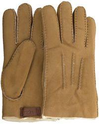 UGG Camelfarbene Handschuhe Contrast Sheepskin Glove - Natur
