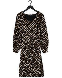 Juffrouw Jansen Zwarte Mini Jurk Dress Wide Sleeve