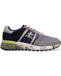 Premiata Blauwe Lage Sneakers Lander