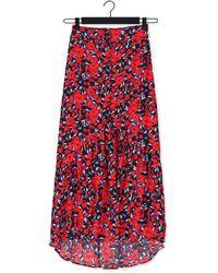 Colourful Rebel Multi Midirok Rive Roses High Low Skirt - Rood