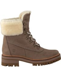 Timberland Taupe Veterboots Courmayeur Valley Shear - Bruin