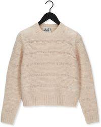 Just Female Pullover Sagi Knit - Natur