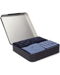Tommy Hilfiger Blaue Socken Th Men Sock 4p Tin Giftbox