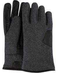 UGG Grijze Handschoenen Fabric And Leather Glove - Grijs