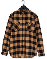 Edwin Camel Casual Overhemd Labour Shirt Ls - Meerkleurig