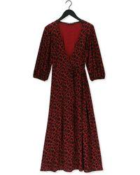 Juffrouw Jansen Rode Maxi Jurk Dress Overlap - Rood