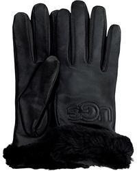 UGG Schwarze Handschuhe Classic Logo Glove