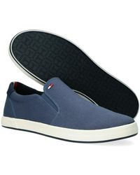 Tommy Hilfiger Blauwe Lage Sneakers Iconic Slip On