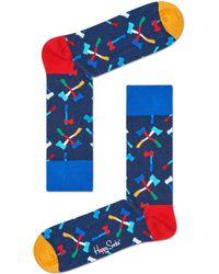Happy Socks Sokken Axe - Blauw