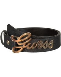 Guess Schwarze Gürtel Uptown Chic Adjustable Belt