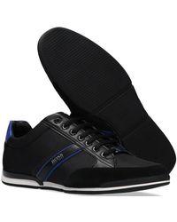 BOSS by Hugo Boss - Zwarte Lage Sneakers Saturn Lowp Mx - Lyst