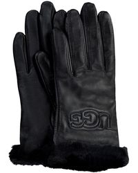 UGG Zwarte Handschoenen Classic Logo Glove