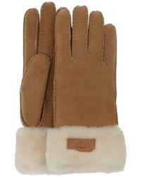UGG Braune Handschuhe Turn Cuff Glove - Natur