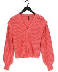 Y.A.S Roze Vest Yascarmen Ls Knit Cardigan S.