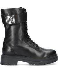 NIKKIE Bottines À Lacets Philein High Boots - Noir