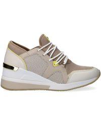 Michael Kors - Beige Sneaker Liv Trainer - Lyst