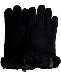 UGG Schwarze Handschuhe Shorty Glove W/trim