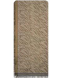 Becksöndergaard Gouden Sjaal Mille Zebra Scarf - Metallic