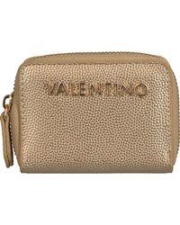 Valentino Goldfarbene Portemonnaie Divina Coin Purse - Mettallic
