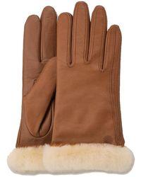 UGG Cognacfarbene Handschuhe Classic Leather Smart Glove - Braun