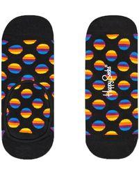 Happy Socks Zwarte Sokken Sunrise Dot Liner