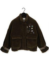 Goosecraft Teddy-jacke Gc Lola Pins Coat - Grün