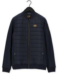 PME LEGEND Jack Zip Jacket Ottoman Mixed Padde - Bleu
