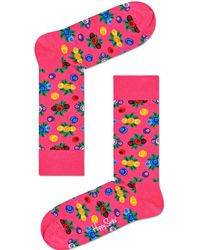 Happy Socks Socken Berry - Schwarz