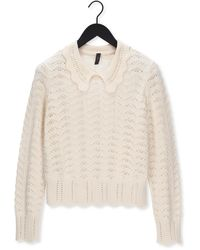 Y.A.S Gebroken Wit Trui Yasgotham Ls Knit Pullover S. - Meerkleurig