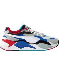 PUMA Multi Lage Sneakers Rs-x3 Puzzle - Blauw