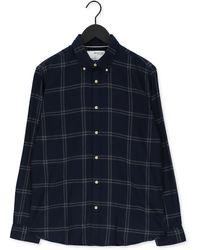 SELECTED Blauwe Casual Overhemd Slimflannel Shirt Ls W